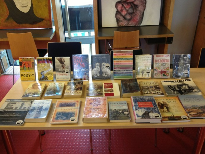 Books on display at Idea Store Whitechapel