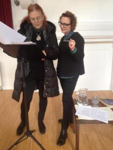 Liliane and Sarah at October Gallery.
