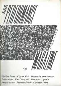 Cover of the first issue of Performance Magazine.