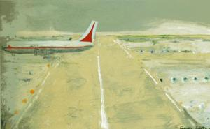 Image: Camille Souter, Shannon Series Painting, 1980, Oil on paper, 44 x 74 cm, Collection Irish Museum of Modern Art, Purchase, 2007
