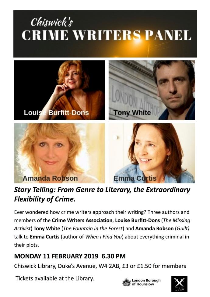 chiswick crime writers panel(1)