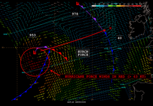 """@NWSOPC: ICYMI: #OSCAT winds w/70 kt at 01Z near E #Atlantic #hurricane frc low with 00Z OPC sfc analys."""