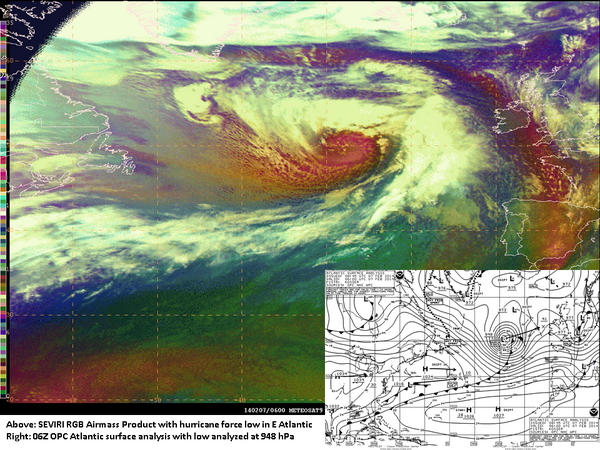 """@NWSOPC: 79MB Animated loop of #SEVIRI RGB Airmass Product showing #Atlantic #hurricane low developing: http://go.usa.gov/B5T9  pic.twitter.com/g5aijlWAKU"" Click-through for GIF"
